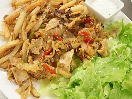 Kebab et frites maison